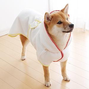 超吸水ドッグバスローブ S【バス用品 ローブ 風呂 犬 犬用 犬用品 国産 日本産】PEPPY(ペピイ)