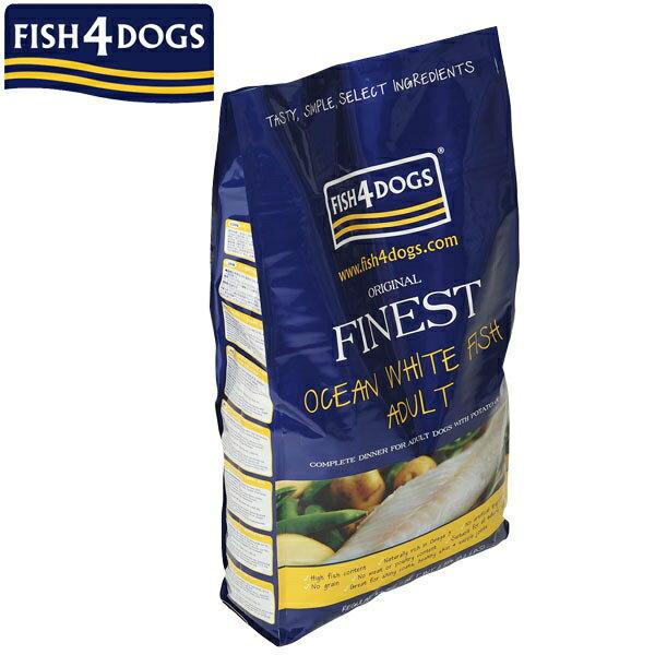 フィッシュ4ドッグ オーシャンホワイトフィッシュ 成犬用 小粒 6kg【ドッグフード 餌 ごはん 白身魚】PEPPY(ペピイ)