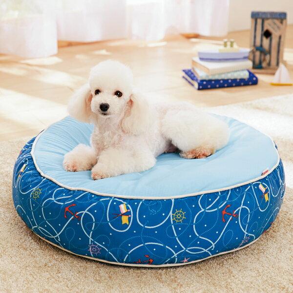 【セール32%OFF】涼眠ラウンドベッドS(径58×高さ14cm)【クッション 夏用 小型犬 中型犬 猫 リバーシブル 涼感 クール】PEPPY(ペピイ)