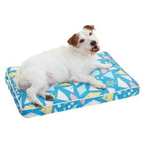 涼眠スクエアマットS幅60×奥行40×高さ5cmカラフルベージュターコイズブルー犬猫ペピイオリジナル2018春夏