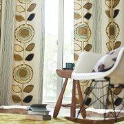 ポイント カーテン オーダー ドレープカーテン スミノエ デザイン サンフラワー アイボリー