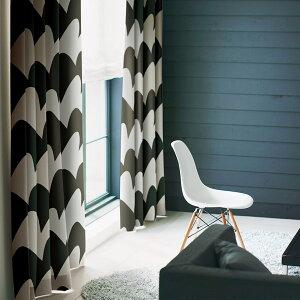 カーテン オーダー ドレープカーテン スミノエ デザイン サザナミ ブラック