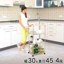 売れてます!ドウシシャの新製品【ポール直径12.7mm】幅30×奥45×高92.5スペースラック304段SS453090-4