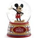 ディズニー スノードーム ミッキーマウス ウォーターグローブ 100mm 木彫り調フィギュア ディズニー・トラディション 新生活 プレゼント