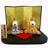 吉徳 雛人形 スヌーピー グッズ コンパクト 親王飾り 磁器製 かわいい キャラクター ひな人形 ギフト プレゼント