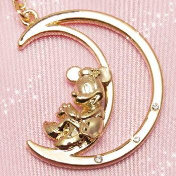スマホストラップ・イヤホンジャックアクセサリーミニーマウス&ムーン637ゴールドディズニー