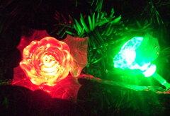あなたのLEDライトも薔薇に大変身できます☆薔薇のLEDライトカバーで大変身♪50個