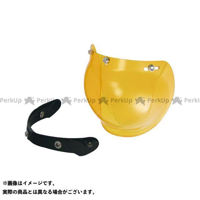 【エントリーで最大P23倍】LEAD ヘルメットシールド PZ-004A バブル&フリップアップベースセット(アンバー) リード工業