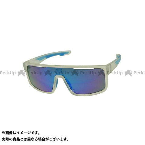 SUwear サングラス サングラス UVカット スポーツ サイクリング ゴルフ ランニング ドライブ(クリアーラバー/ブルーレボ) SUwear