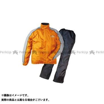 【エントリーで最大P23倍】Rough&Road レインウェア RR5232 デュアルテックスコンパクトレインスーツ カラー:オレンジ サイズ:M ラフ&ロード