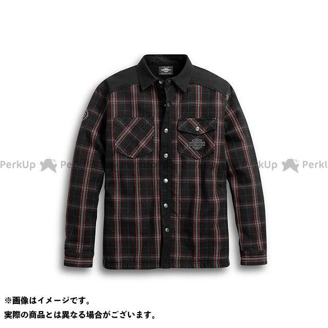 【無料雑誌付き】HARLEY-DAVIDSON ジャケット Sherpa Fleece Lined Shirt Jacket(ブラック) サイズ:L ハーレーダビッドソン