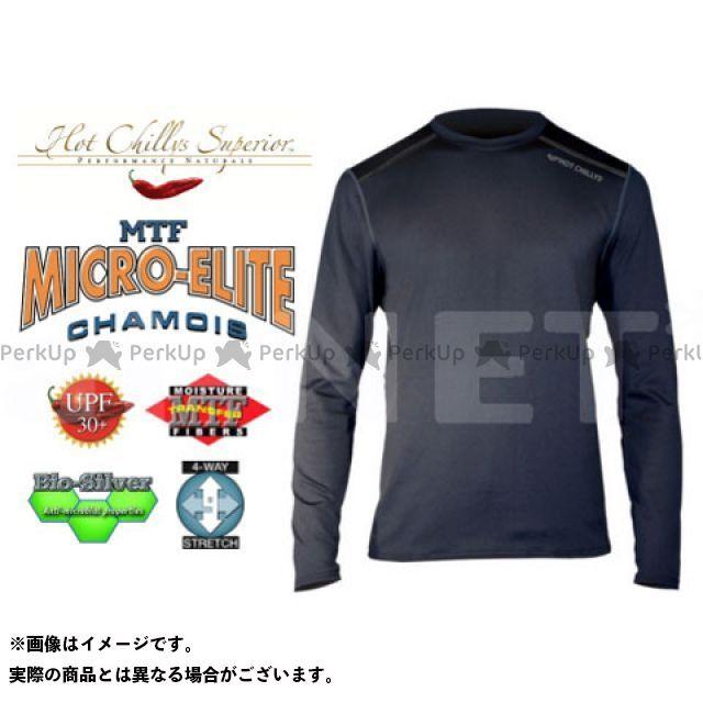 【無料雑誌付き】HOT CHILLYS インナーウェア・アンダーウェア マイクロエリートシャモア クルーネックシャツ メンズ HC9909 カラー:ブラック サイズ:M ホットチリーズ
