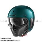 【エントリーで最大P21倍】SHARK HELMETS ジェットヘルメット S-Drak Blank Metal Helmet Green Metal サイズ:S シャークヘルメット