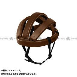 【無料雑誌付き】rin project ヘルメット 自転車 ヘルメット(no.4002 カスクレザー) 簡易ヘルメット 折り畳める 牛革(ブラウン) リンプロジェクト(自転車)