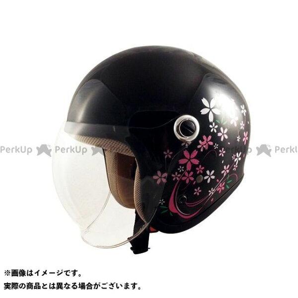 エントリーで最大P19倍 SPEEDPITレディース・キッズヘルメットGS-6シールド付きジェットヘルメットGinoカラー:さ