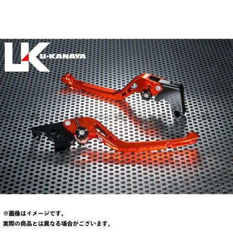 U-KANAYA GSX-R750 レバー GPタイプ アルミ削り出しビレットレバー(レバーカラー:オレンジ) シルバー ユーカナヤ