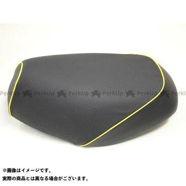 【エントリーで最大P23倍】Grondement ジャイロX シート関連パーツ ジャイロX(TD01) 国産シートカバー エンボス黒 タイプ:張替 仕様:黄パイピング グロンドマン