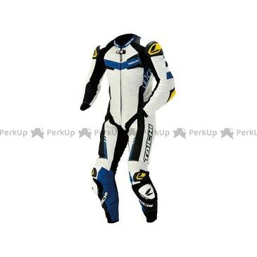 アールエスタイチ レーシングスーツ NXL305 GP-WRX R305 LEATHER SUIT(ブルー) M RSタイチ