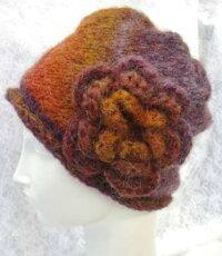 雅1玉で編む帽子