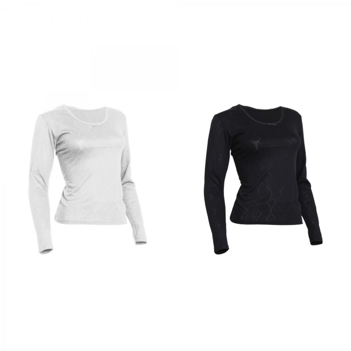 (フロソ) FLOSO レディース あったか サーマルインナー 長袖Tシャツ トップス (ビスコースプレミアム) 冬 女性用