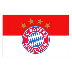 FCバイエルン・ミュンヘン フットボールクラブ FC Bayern Munich オフィシャル商品 フラッグ 応援旗 【楽天海外直送】
