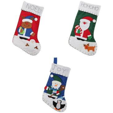 クリスマス スノーマン/サンタ/トナカイのデザイン フェルト素材 クリスマスソックス(飾り) クリスマスストッキング クリスマス靴下 【楽天海外直送】