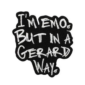 (グラインドストア) Grindstore オフィシャル商品 I am Emo But In A Gerard Way ワッペン アップリケ 【楽天海外直送】