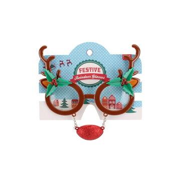 (シージービー・ギフトウェア) CGB Giftware クリスマス コスプレ・仮装用 トナカイ 赤鼻つき おもしろサングラス 【楽天海外直送】