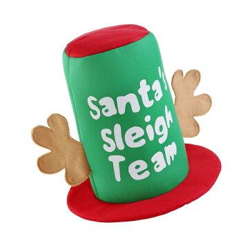 (クリスマスショップ) Christmas Shop クリスマス トナカイのツノつき サンタのソリチームハット 帽子 キャップ クリスマスハット 【楽天海外直送】