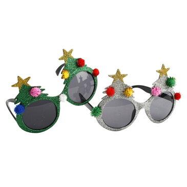 (シージービー・ギフトウェア) CGB Giftware クリスマス パーティー ツリーつき おもしろサングラス 1個 ※ランダム 【楽天海外直送】
