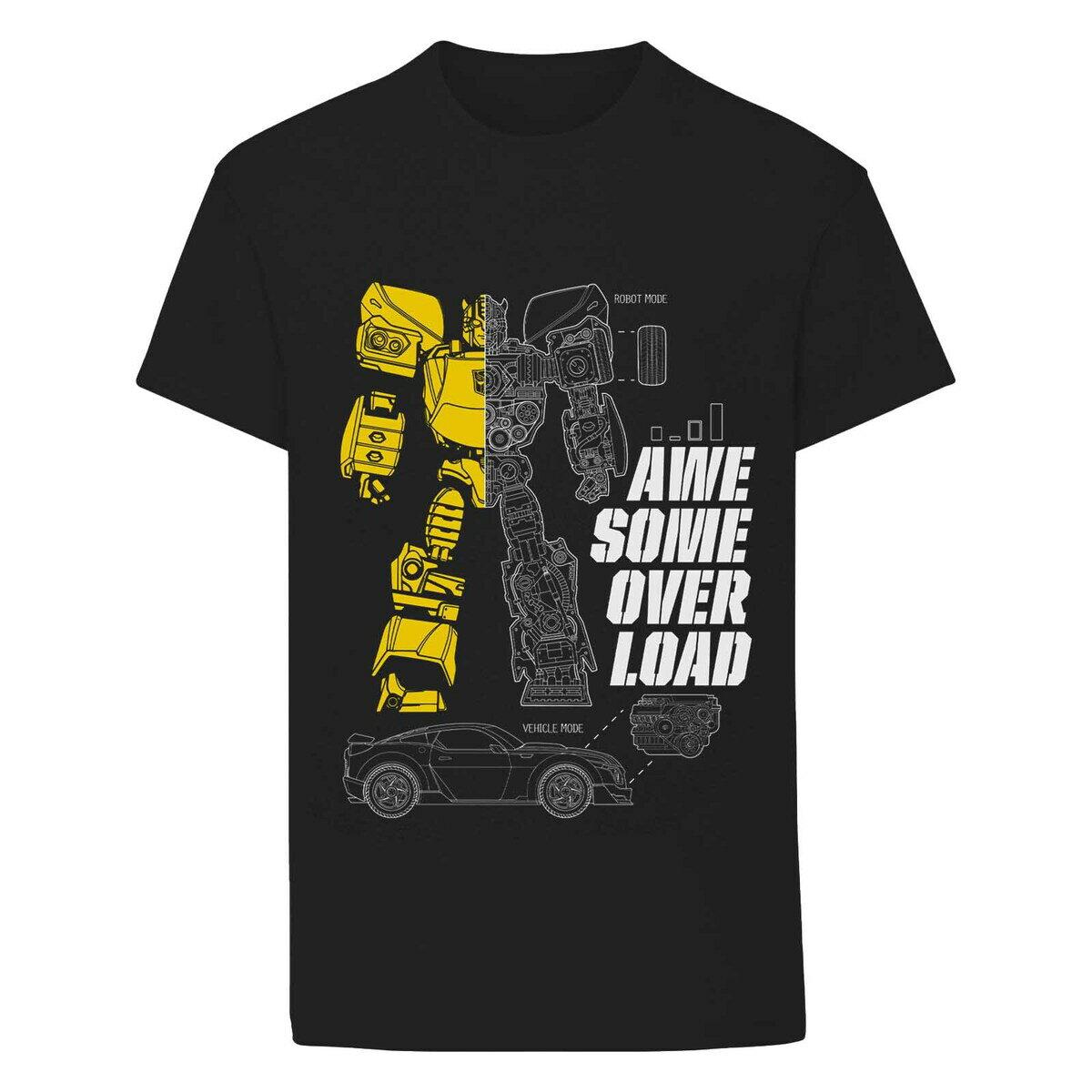 トップス, Tシャツ・カットソー () Transformers Awesome Overload Bumblebee T