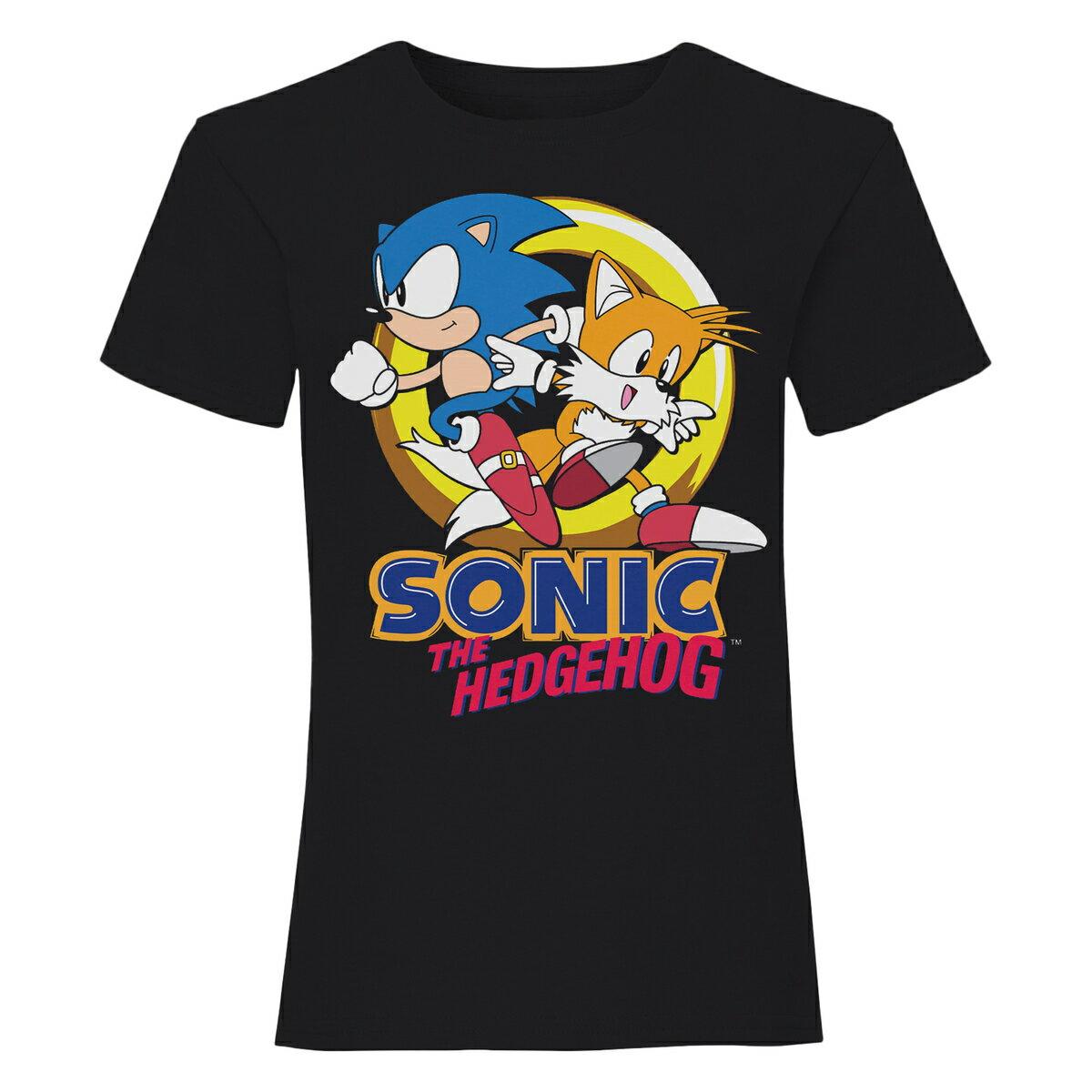 トップス, Tシャツ・カットソー () Sonic The Hedgehog Sonic And Tails T