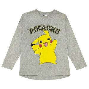 (ポケモン) Pokemon オフィシャル商品 キッズ・子供 ガールズ Pikachu Pose Tシャツ 長袖 カットソー トップス 【海外通販】