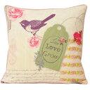 (リーヴァ・ホーム) Riva Home エデン クッションカバー (カバーのみ) 花と小鳥 シャビ...