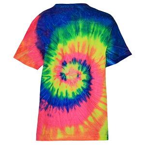 (カラートーン) Colortone キッズ・子供用 レインボー タイダイ ヘビーウェイトコットン 半袖Tシャツ 【楽天海外直送】