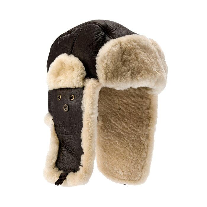(イースタン・カウンティーズ・レザー) Eastern Counties Leather メンズ Shelford シープスキン パイロット トラッパー ハット 帽子 【楽天海外直送】