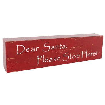 (サムシング・ディファレント) Something Different クリスマス Dear Santa スタンディング ウォールサイン 看板 飾り 【楽天海外直送】