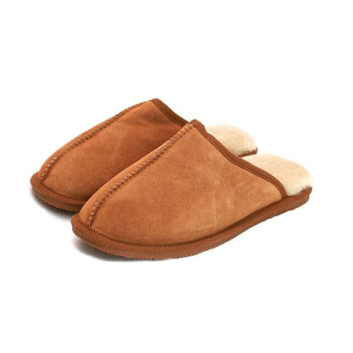 (イースタン・カウンティーズ・レザー) Eastern Counties Leather ユニセックス シープスキンライニング スリッパ 室内履き 男女兼用 【楽天海外直送】