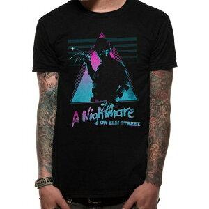 (エルム街の悪夢) A Nightmare On Elm Street オフィシャル商品 ユニセックス マスク プリント 半袖 Tシャツ 【楽天海外直送】