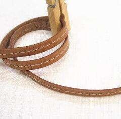 バッグの持ち手やタグ作りにどうぞ〜本皮ステッチテープ(8ミリ)【革テープ】