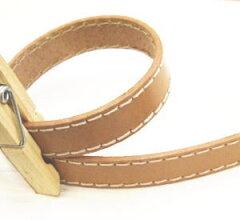 バッグの持ち手やタグ作りにどうぞ〜本皮ステッチテープ(15ミリ)【革テープ】
