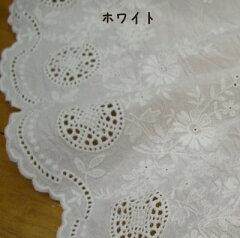 日本製の上質キャンブリック生地のスカラップ刺しゅうです。お洋服作りにぴったり♪【スカラッ...