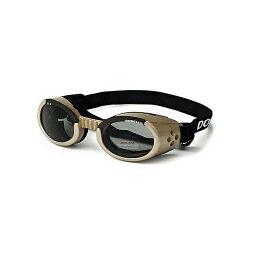 【犬用ゴーグル】ドグルズ(シャンパンゴールド)(犬いぬイヌペットめがねメガネサングラス紫外線カット粉じんカット黄砂カット目の健康予防)