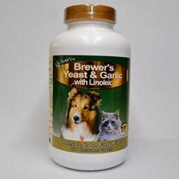 【犬・猫用総合栄養補助サプリメント】ブリュワーズイースト&ガーリックwithリノール酸500粒(犬いぬイヌ猫ねこネコペットペットサプリサプリ栄養補助栄養補給健康食品皮膚被毛NaturVet)