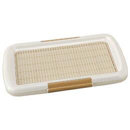 【お取り寄せ(3〜4営業日)】しつけるトイレトレーメッシュプラス【Sサイズ】(48cm×35cm)白