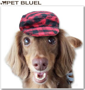 犬用 レッドチェックハンチング♪【あす楽】【犬 犬用 帽子 キャップ】レッドチェックハンチン...