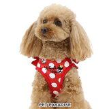ディズニー ミニーマウス 水玉柄 ベスト ハーネス 【SS】 | おさんぽ おでかけ お出掛け おしゃれ オシャレ かわいい 小型犬 キャラクター