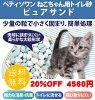 《期間限定20%OFF》ペットパラダイス【猫用】猫砂Pet'ySoinねこちゃん用トイレ砂ピュアサンド7L×6個セット
