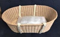 ペット用棺メモリアルバスケット布団付き