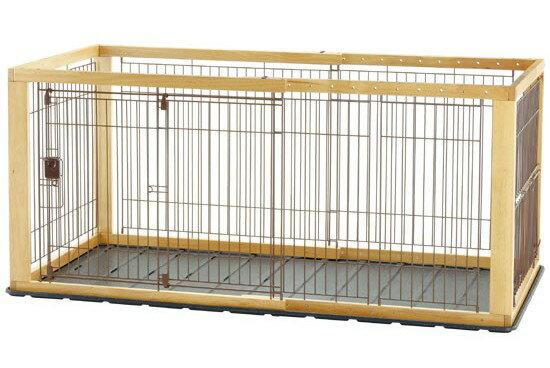 リッチェル 木製スライドペットサークル ワイド ナチュラル 4973655593530